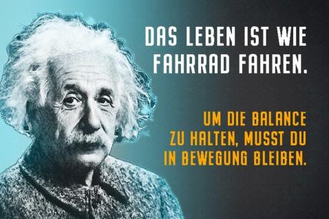 Blechschild Spruch Das Leben ist wie Fahrrad A.Einstein Metallschild Wanddeko 20x30 cm tin sign