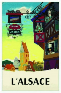 Nostalgie: L'Alsace Blechschild 20x30 cm