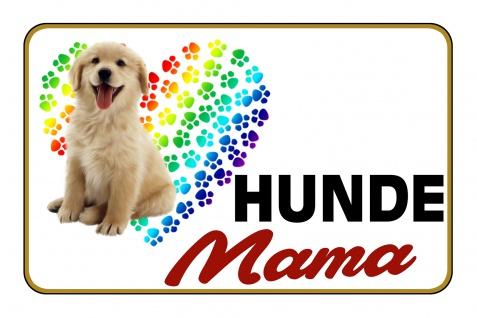 Blechschild Hunde Mama Metallschild Wanddeko 20x30 cm tin sign
