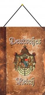Blechschild Deutsches Reich Bayern Wappen Metallschild Deko 20x30 mit Kordel