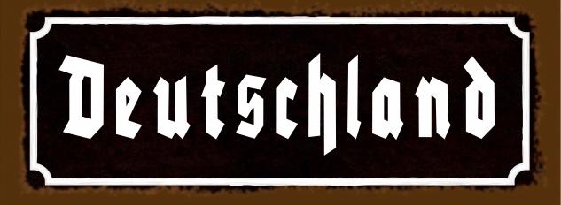 Blechschild Spruch Nostalgie Deutschland Metallschild 27x10 cm Deko tin sign