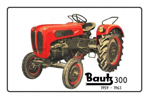 Bautz 300 1959-1963 tracktor trekker blechschild