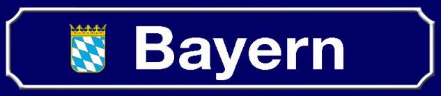 Bayern strassenschild Bundesland mit Wappen blechschild 46x10cm