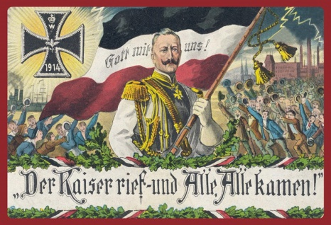Retro: Der Kaiser rief... (1914) Metallschild Wanddeko 20x30 cm tin sign