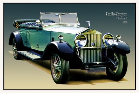 Rolls Royce Phantom II 1929 auto classic blechschild