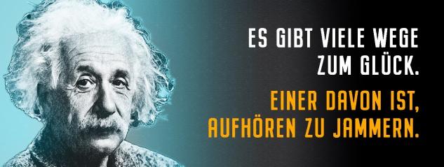 Blechschild Einstein: Es gibt viele Wege zum Glück Metallschild Wanddeko 27x10 cm tin sign