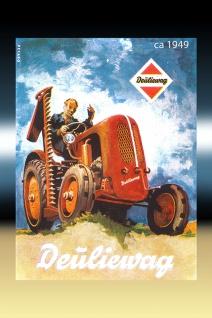 Deüliewag 1949 tracktor trekker blechschild