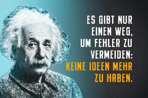Blechschild Spruch Einstein Es gibt nur einen Weg Metallschild Wanddeko 20x30 cm tin sign