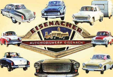 Eisenacher auto modelle übersicht blechschild