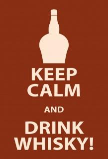 Blechschild Alkohol Keep Calm & Drink Whisky Metallschild Wanddeko 20x30 cm tin sign