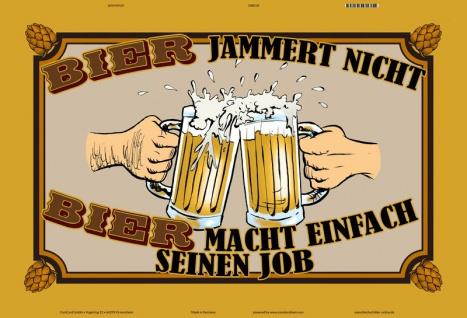 Blechschild Bier macht seinen Job Metallschild Wanddeko 20x30 tin sign - Vorschau 1
