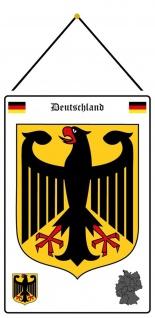 Blechschild Deutschland Wappen Adler Metallschild Deko 20x30 mit Kordel