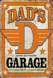 Dad's Garage - if I can't fix it, it aint broke Wanddeko 20x30 cm