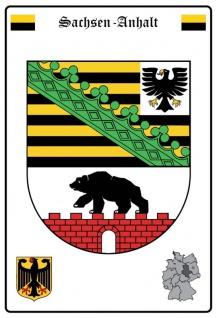 Sachsen-Anhalt wappen blechschild