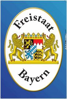 Freistaat Bayern mit wappen blechschild
