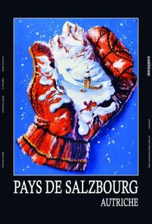 Salzburger Land Österreich Handschuhe ski blechschild