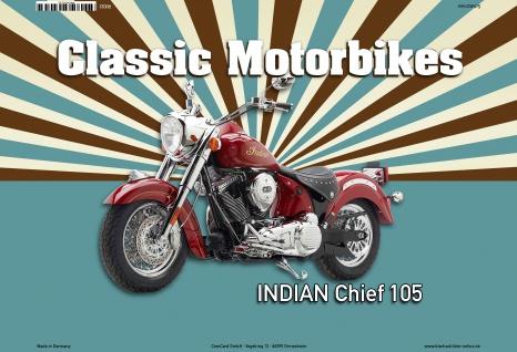 Indian Chief 105 Classic Motorrad Blechschild