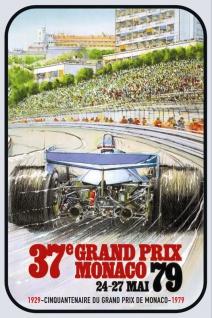Retro: 37. Grand Prix Monaco 1979 Blechschild 20x30 cm