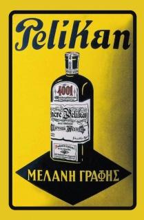 Pelikan tinte reklame blechschild