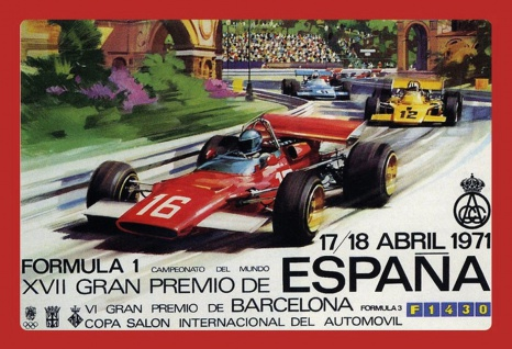 Retro: Formula 1 Barcelona 1971 Metallschild 20x30 tin sign