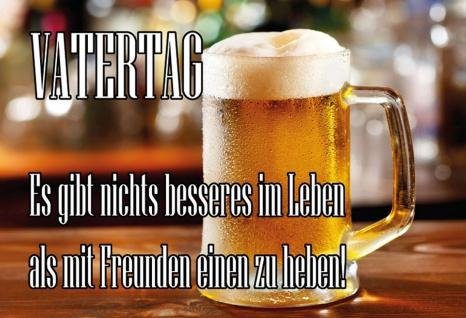 Blechschild Bier Vatertag gibt nichts besseres Metallschild Wanddeko 20x30 cm tin sign