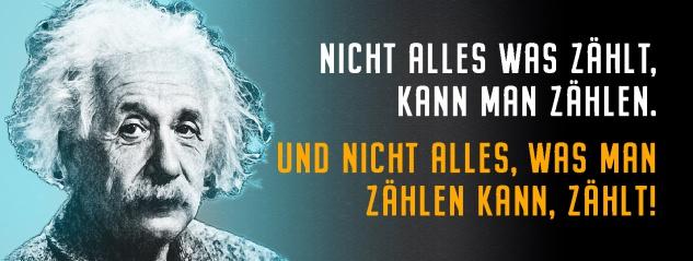 Blechschild Einstein: Nicht alles was zählt, kann man zählen Metallschild Wanddeko 27x10 cm tin sign