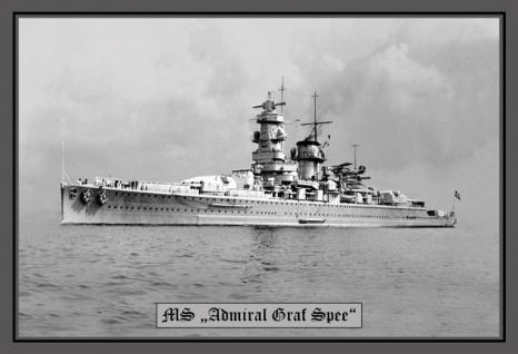 MS Admiral Graf Spee kriegschiff boot blechschild