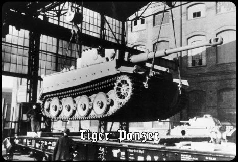 Blechschild Tiger Panzer (im Werk) Metallschild Wanddeko 20x30 tin sign