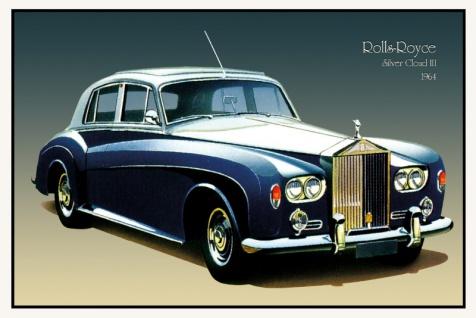 Rolls Royce Silver Cloud III 1964 auto classic blechschild