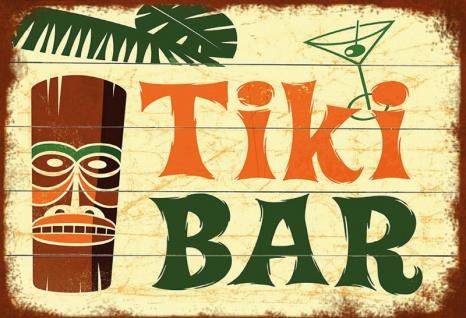 Tiki Bar barschild hawaii blechschild
