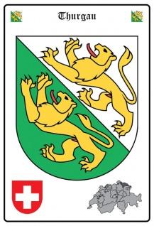 Thurgau wappen blechschild