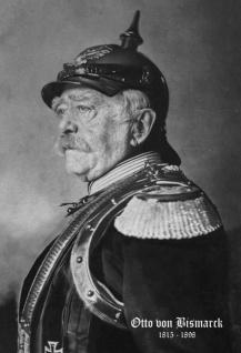 Retro: Otto von Bismarck Protrait 1816-1898 (Schwarz-Weiß) Blechschild 20x30 cm