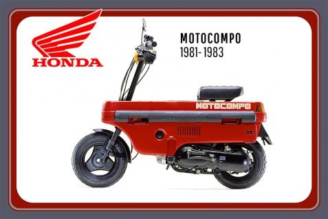 Honda Motocompo 1981-1983 motorrad, motor bike, motorcycle blechschild