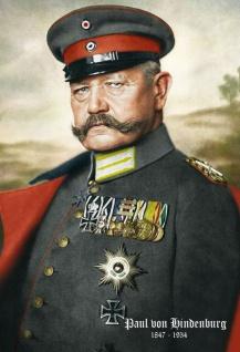 Retro: Paul von Lindenburg Portrait 1847-1934 (Farbe) Blechschild 20x30 cm