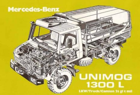 Unimog 1300L bau anleitung blechschild