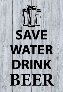 Save water drink beer blechschild