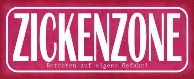 Blechschild Spruch Zickenzone Gefahr Metallschild 27x10 cm Wanddeko tin sign
