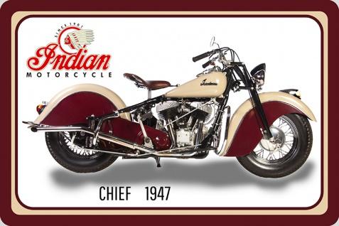 Indian Chief 1947 40PS motorrad, motor bike, motorcycle blechschild