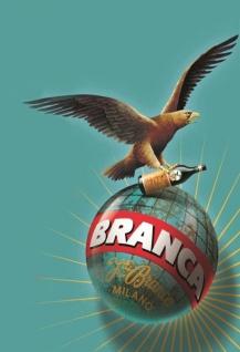 Branca Milano mit Adler reklame blechschild