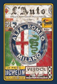 Blechschild Reklame Alfa Romeo Agip Michelin Metallschild Wanddeko 20x30 cm tin sign