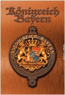 Königreich Bayern mit Wappen, bronze Blechschild 20x30 - Vorschau 1