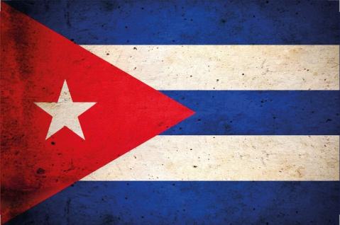 Blechschild Kuba/Cuba Nationalflagge Metallschild Wanddeko 20x30cm tin sign