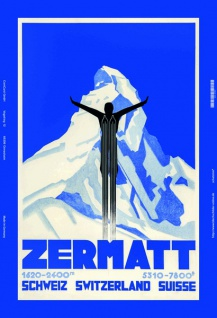 Zermat schweiz 2400m 7800ft blechschild