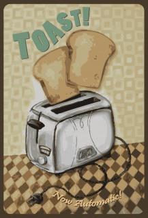Nostalgie: Toast - Now Automatic Metallschild 20x30 Deko tin sign