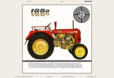 Steyr 185a KLII traktor Trekker Schlepper blechschild