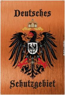 Deutsches Schutzgebiet Wappen mit Adler Bronze, Blechschild 20x30