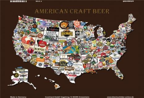 American Craft Beer Karte blechschild