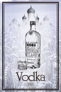 Schatzmix Blechschild Vodka 1925 lange Flasche Metallschild 20x30 cm Wanddeko tin sign