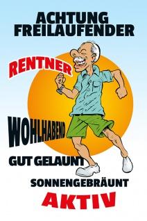 Rentner Bilder Comic : achtung freilaufender rentner blechschild lustig comic metallschild kaufen bei comcard gmbh ~ Watch28wear.com Haus und Dekorationen