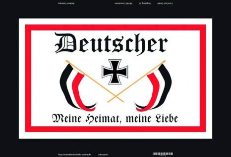 Retro: Deutscher - Meine Heimat, meine Liebe Blechschild 20x30 cm
